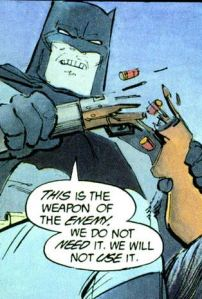 Batman hates guns